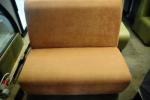 Оранжевый диван для кафе б/у 185х80х110 см